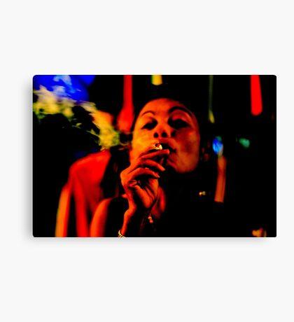 Smoking in the Nightclub Canvas Print