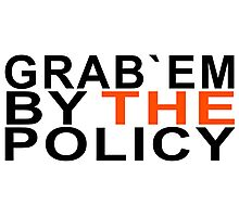 grab them by the policy Photographic Print