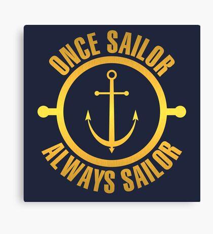 Golden Sailor Canvas Print