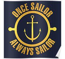Golden Sailor Poster