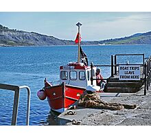Skipper Harry and his boat Marie F............ Photographic Print