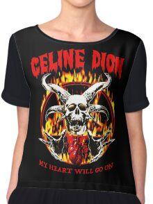 Metal Heart Will Go On Chiffon Top