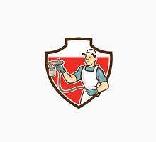 Painter Spray Gun Spraying Shield Cartoon Unisex T-Shirt