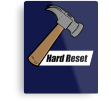 Hard Reset Metal Print