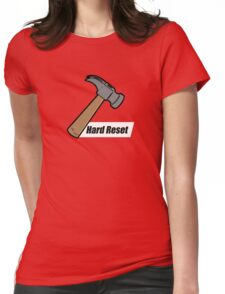 Hard Reset Womens Fitted T-Shirt