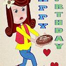 A birthday card for a little girl by Ann12art