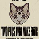 Orwellian Cat On Mathematics by Margaret Bryant