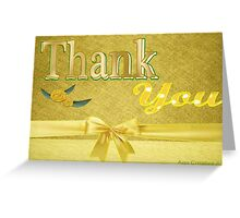A Thank you card with text only Greeting Card