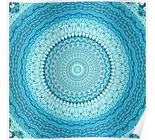 White Coastal Spray Mandala  Poster