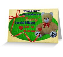 Beary Special Card  Greeting Card