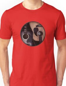 Ying Yang Acoustic Guitars Unisex T-Shirt