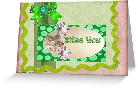 Miss you card by Ann12art