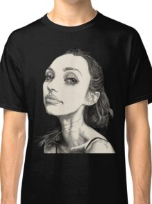 Arina in Black and White Classic T-Shirt