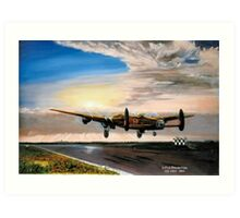 582 Sqdn Lanc take off Art Print