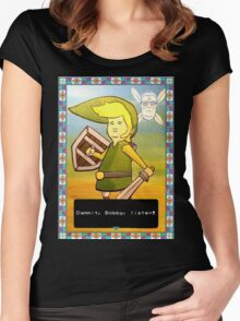 King of the Hill - Link from Zelda and Navi - Parody - Dammit, Bobby, listen!  Women's Fitted Scoop T-Shirt