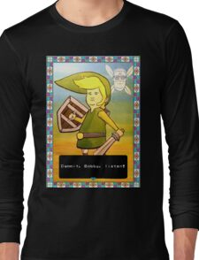 King of the Hill - Link from Zelda and Navi - Parody - Dammit, Bobby, listen!  Long Sleeve T-Shirt