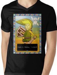 King of the Hill - Link from Zelda and Navi - Parody - Dammit, Bobby, listen!  Mens V-Neck T-Shirt