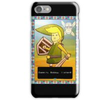 King of the Hill - Link from Zelda and Navi - Parody - Dammit, Bobby, listen!  iPhone Case/Skin