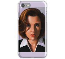 Portrait of Gillian Anderson iPhone Case/Skin