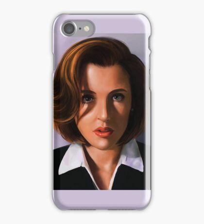 Portrait of Gillian Anderson iPhone Case/Skin
