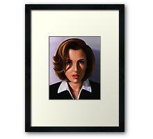 Portrait of Gillian Anderson Framed Print