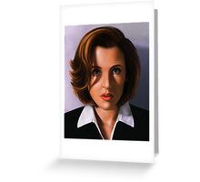 Portrait of Gillian Anderson Greeting Card