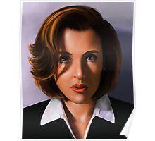 Portrait of Gillian Anderson Poster