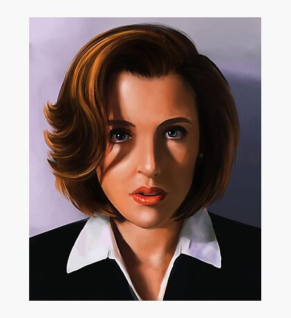 Portrait of Gillian Anderson Photographic Print