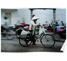 Ho Chi Minh City. Walking with a Bicycle Poster
