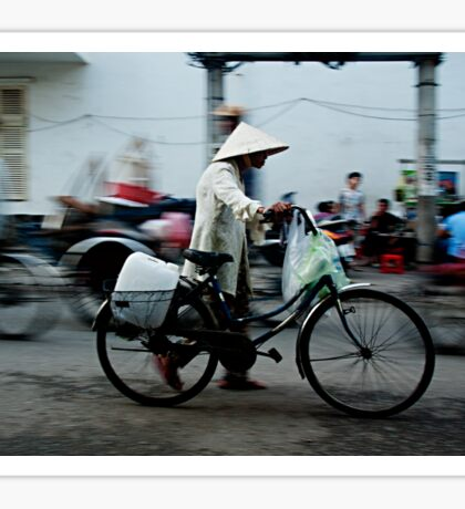 Ho Chi Minh City. Walking with a Bicycle Sticker