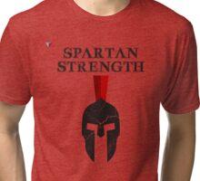 Spartan Strength Workout Training Black Gym T-Shirt by Cyrca Originals Tri-blend T-Shirt