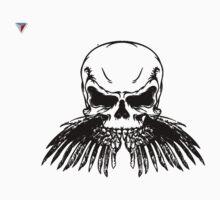 Black Skull Hipster Skeleton Graphic T-Shirt by Cyrca Originals One Piece - Short Sleeve