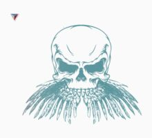 Neon Skull Hipster Skeleton Graphic T-Shirt by Cyrca Originals Baby Tee