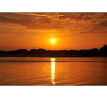 Orange Sunset on the Water Photographic Print