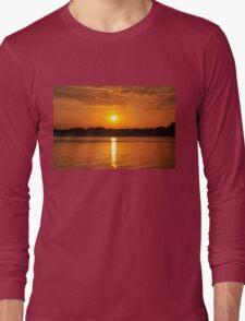 Orange Sunset on the Water Long Sleeve T-Shirt