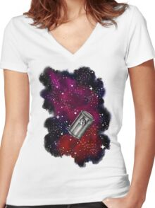 Floating in a Tin Can  Women's Fitted V-Neck T-Shirt
