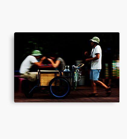 Bangkok. Street Seller Canvas Print