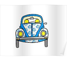 Flower VW Bug Poster