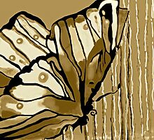 Autumn Butterfly Neutral @#2 by Saundra Myles