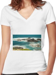 1172 Land and Sea Women's Fitted V-Neck T-Shirt
