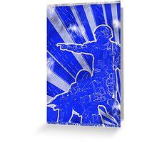 """BLUE Army """"ODST"""" Propaganda Greeting Card"""