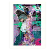 Kitty Glitter Art Print