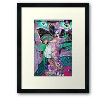 Kitty Glitter Framed Print