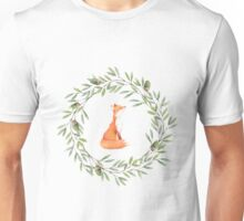 Fox in an Acorn Wreath Unisex T-Shirt