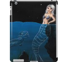 Mixed Media Creepy Mermaid iPad Case/Skin