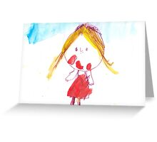 little Princess - child's drawing Greeting Card