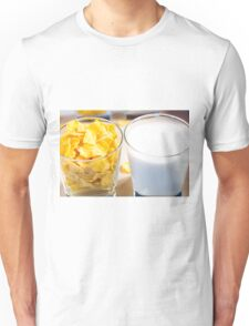 Cornflakes and milk for breakfast Unisex T-Shirt