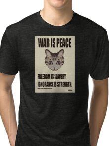 Orwellian Cat Says War Is Peace Tri-blend T-Shirt