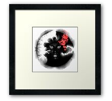 Voodoo Psychedelic Ink Man Framed Print