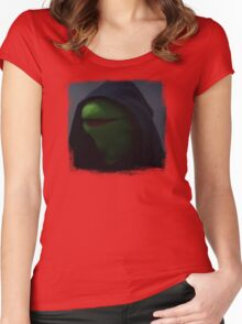 Kermit meme Women's Fitted Scoop T-Shirt